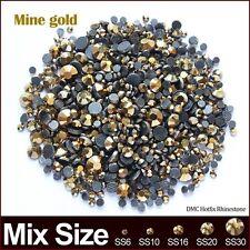 Mine gold Mixedsize Hotfix Rhinestone 2060pcs/lot Crystal stones for rhinestone
