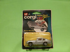 CORGI TOYS 40 - ASTON MARTIN DB6 007 JAMES BOND  - 1:65?  - NEAR MINT IN BLISTER