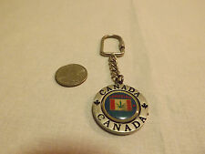 Canada marijuana flag spinning center metal key chain. LOOK!