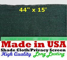 "USA  44"" x 15' 90% SHADE CLOTH PRIVACY SCREEN  POULTRY AVIARY SUN BLOCK NETTING"