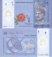 MALAYSIA 1 Ringgit Banknote World Money Currency BILL POLYMER Note 2012 Rahman