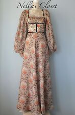 True Vintage 1970s 'KATI at LAURA PHILLIPS' Boho/ Festival Style Dress UK 10