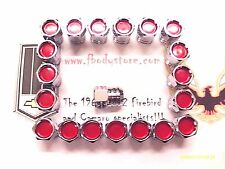 1967 - 1972 TRANS AM FIREBIRD PONTIAC RALLY II WHEEL LUG NUT SET RED