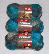 Bernat Softee Chunky Yarn Lot Of 3 Skeins (Deep Waters #29632)