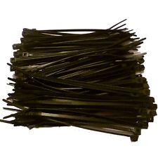 100 x BLACK Cable Ties 140mm x 3.6mm - Nylon Zip Ties