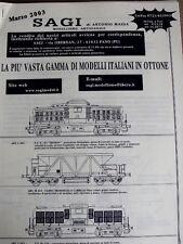 Catalogo SAGI modellismo TRENI artigianale 2003 - ITA - Tr.5