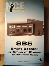 NCE 27 SB5 Smart Booster + power supply 5 Amp for Power Cab (replaces SB3a) NEW!