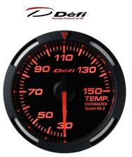 Defi Racer 52mm Car Oil Temperature Gauge - Red - JDM Style Stepper Motor