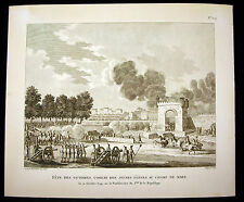 Fête des victoires combat des jeunes élèves Révolution française Berthault XIX