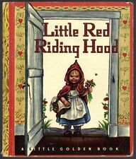 Vintage Children's Little Golden Book LITTLE RED RIDING HOOD Early WINE Edition