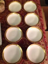 La Seynie Limoges France P And P Paroutaud Gold Trimmed Butter Pats Set Of 8