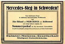 Daimler- Motoren- Gesell... MERCEDES- SIEG in Schweden! Historische Reklame 1923