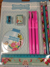 10 PCS VINTAGE STATIONERY SET PENCILS ERASER NOTE PAD KIDS CHILD EDUCATIONAL SET
