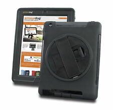 Armourdog ® Robusta Custodia Grip 360 per il Apple iPad 2/3/4 + SCHERMO VETRO TEMPERATO