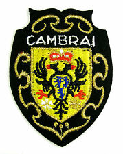 ECUSSON VILLE - REGION BLASON BRODE EMBROIDERED PATCH MERESSE ARMOIRIES CAMBRAI
