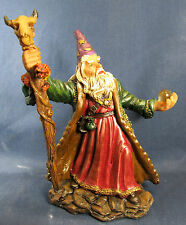 Wizard w/ Crystal Ball and Magic Staff Fantasy Figurine D
