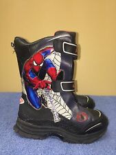 Spider-Man Super Hero Insulated Winter Boots kids velcro fastening  Size 13