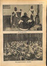 Touaregs Hommes Bleus du Désert à Paris / Colonie de Vacances 1910 ILLUSTRATION