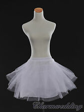 White 3 Layered Dress Children Petticoat Bridal Underskirt Slips for Flower Girl