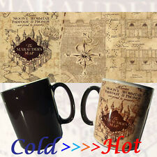 Harry Potter Merodeadores Mapa Magic Cambio de color negro de calor sensible Taza De Café