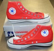 Vintage Converse NEW All Stars Mid 80s Made in USA Orange US10 FreeP&P UKStk