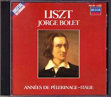 Jorge BOLET: LISZT Vol.4 Années de Pèlerinage (Deuxieme Annee - Italie) CD 1985