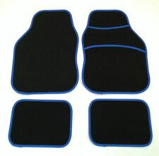 Black & Blue Car Mats For Fiat Punto Brava Panda Stilo 500