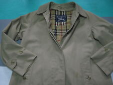Burberry Tan Nova Check Lined Trench Coat Jacket Womens 6 Extra Long