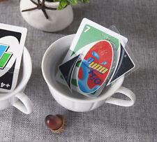 UNO 108pcs Wasserdichte PVC-transparente Kristallklare Spaß-Familien-Spielkarte