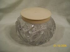 Vintage Cut glass/crystal piece with cover possible celluloid or bakelite