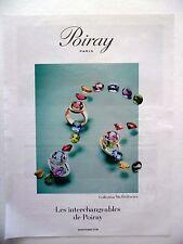 PUBLICITE-ADVERTISING :  POIRAY Collection Ma Préférence  2015 Bijoux,Bagues