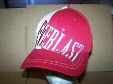 EVERLAST FITTED HAT/CAP OSFA- 7 1/2 AND SMALLER- RED/TAN/WHITE-NEW WITH TAG
