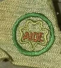 1928-1933 Girl Scout Badge SCOUT AIDE - GREY GREEN SQUARE
