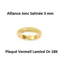 Alliance T66 Jonc Satinée 3 mm Plaqué Or 18K 5 Microns de Dolly-Bijoux