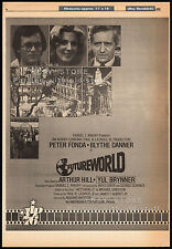 FUTUREWORLD__Original 1976 Cannes Trade AD / poster__YUL BRYNNER__BLYTHE DANNER