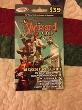 new Wizard 101 CUCKOO CLOCK GAUNTLET BUNDLE Card pet CROWNS Battle Cherub Pet +