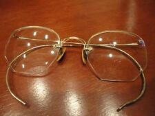 S/C 12K GOLD Frame Eye Glasses Spectacles Shur On Ear Wrap Arms Vintage