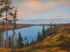 JAMES HEWITT original painting California Fallen Leaf Lake Tahoe Nevada Beauty !