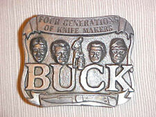 Buck Knife Belt Buckle (Four Generations of Knife Makers) vintage
