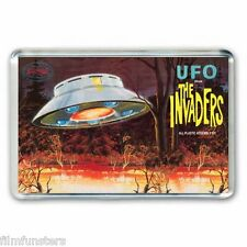 RETRO 60's - BOX ARTWORK- THE INVADERS -UFO FLYING SAUCER- JUMBO FRIDGE MAGNET