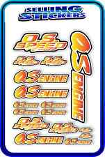 RC AIRCRAFT STICKERS HELI OS ENGINES CAR BUGGY O.S SPEED NITRO PIPE RED YELLOW W