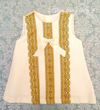 Baby Girls Spanish Waffle Bow Dress Knitted Lace Fully Lined 12-18 Months Romany