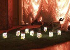 2-pack Solar Mason Jar 4-LED Light Magnet on/off Switch Wire Hanger Lid Wedding