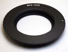 M42 Pentax screw Metal Lens to Canon EOS EF Camera mount adapter Ring EF-S