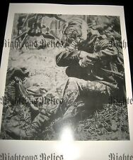 WWII MG 42 German Elite Gunner Fine Art Poster Print Drawing WW2 At Rest 1944-45