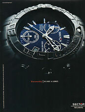 Publicité Advertising 2003  Montre SECTOR