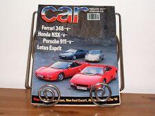 CAR MAGAZINE OCT-1990 - Lexus LS400, Honda NSX, Ferrari 348, Lotus Esprit