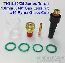 8 pcs TIG Welding Torch Gas Lens Pyrex Cup Kit  for Tig WP-9/20/25 Series  0.04""