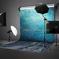 5x7FT Blue Studio Vinyl Cloth Photo Backdrops Photography Background Prop NEW