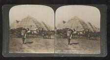 DOUBLEDAY PAGE STEREOVIEW  Russia Japan War- Pyramid Supply Stores Dalny view